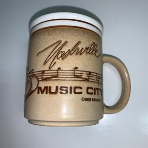 NASHVILLE Music City Coffee Tea Mug Cup Vintage